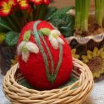 Vajíčko červené, sněženky